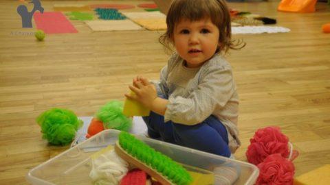 """Warsztaty """"Integracja sensoryczna dla malucha 1-3"""" 17.11.17 o godz. 14.30 Fundacja Sto Pociech"""
