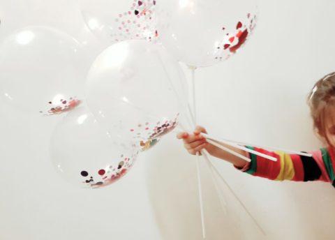 Walentynkowe balony (wzrokowo-słuchowe)