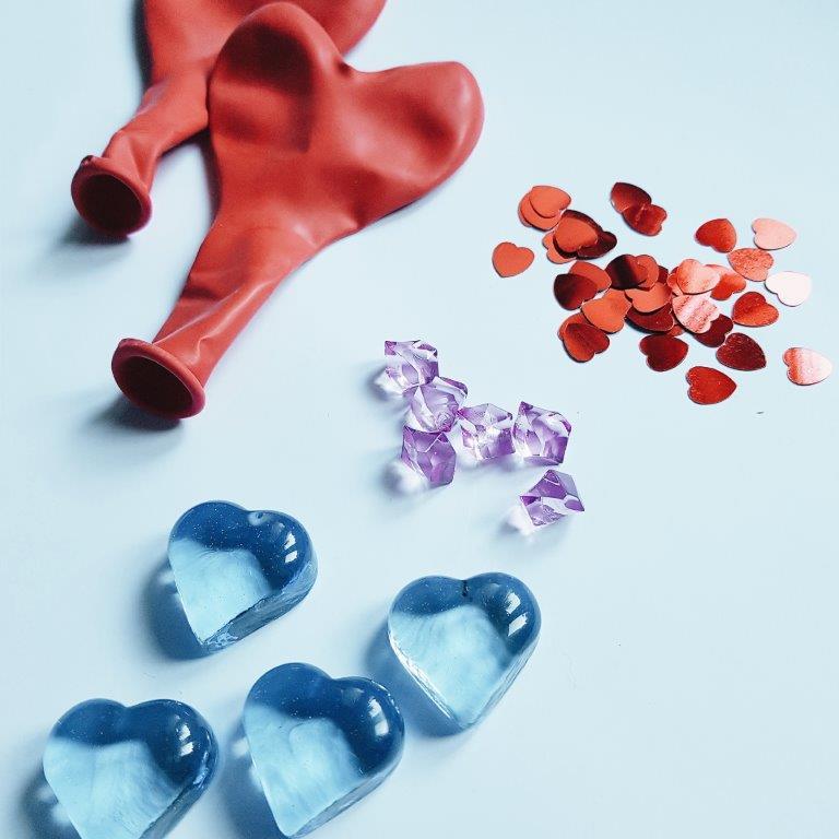 Sensozabawy na Walentynki - lodowe serce