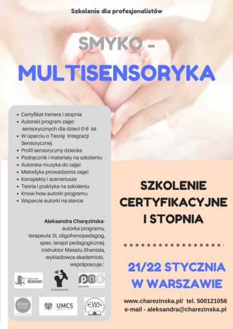Szkolenie ceryfikacyjne  Smyko-Multisensoryka dla profesjonalistów – 21/22.01.2017 -FOTORELACJA