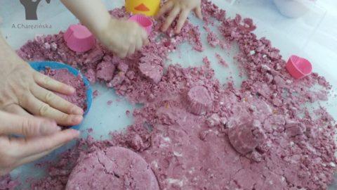Kolorowa mąkolina/ czyli mokry piasek :-)