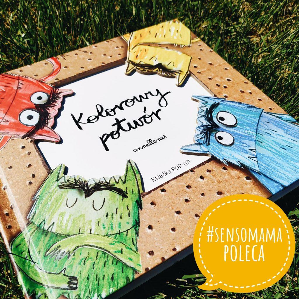 Sensomama poleca - Kolorowy potwór - książka POP - UP