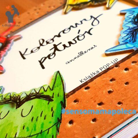 Sensomama poleca – Kolorowy potwór – książka POP – UP