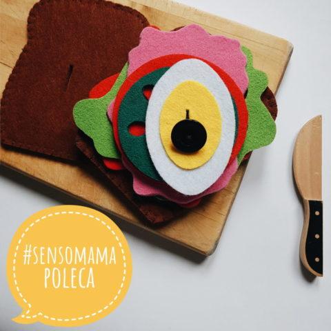 Sensomamapoleca kanapka od Isani handmade