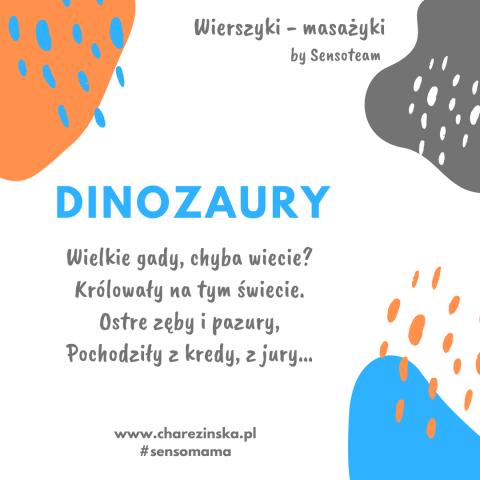 Wierszyki – masażyki: Dinozaury