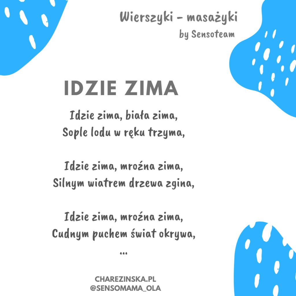 Wierszyk masażyk ZIMA