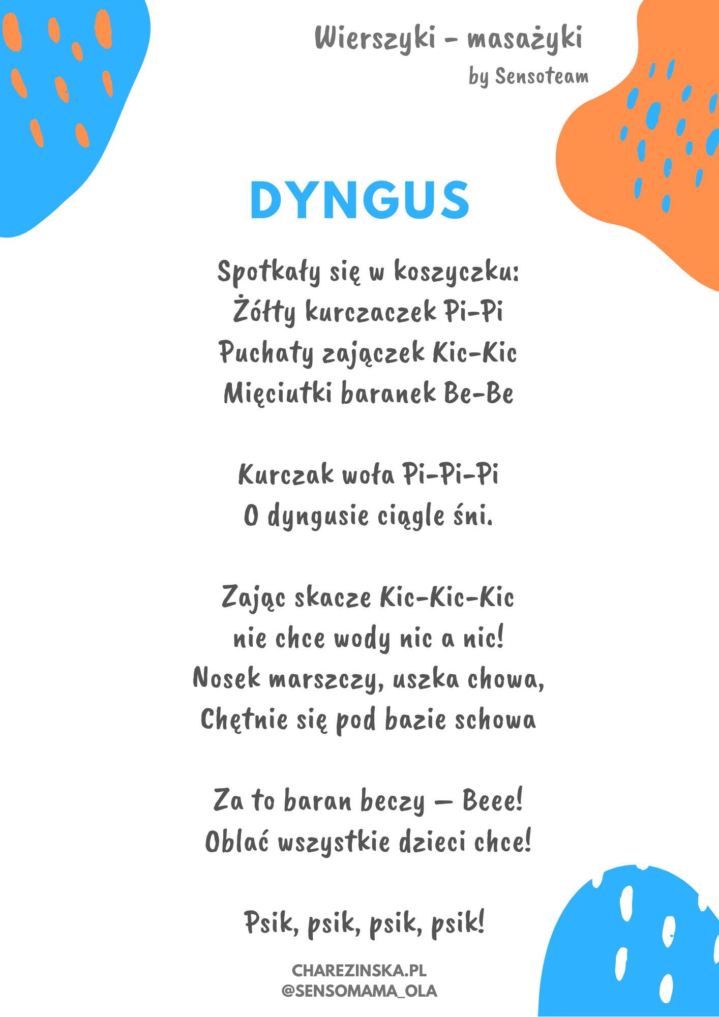 Śmigus-Dyngus - wierszyki-masażyki - Wspieranie Rozwoju Dzieci